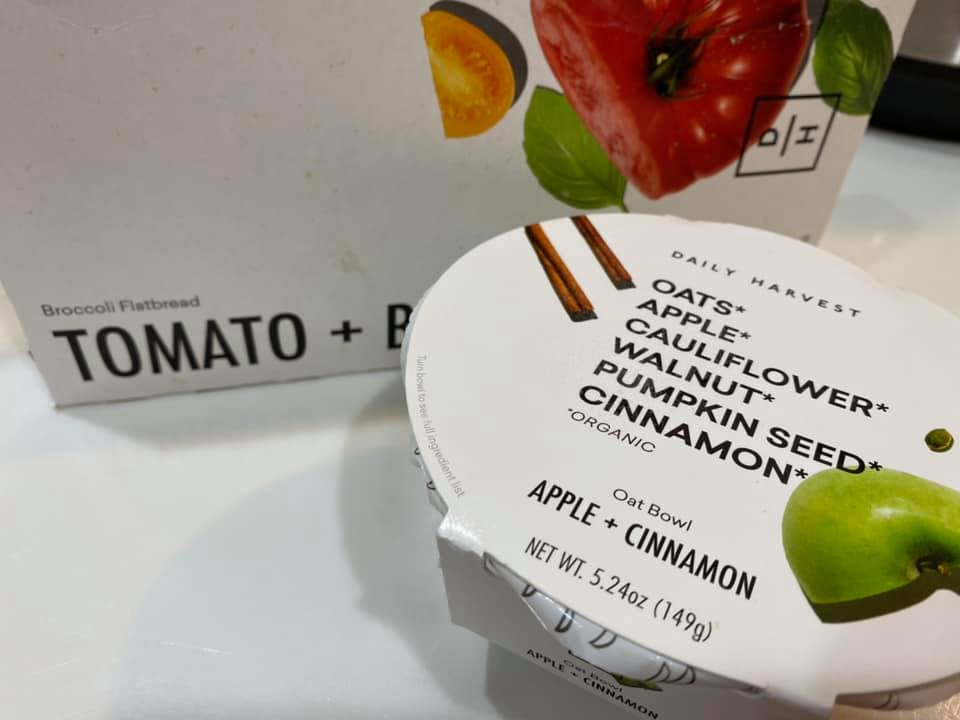 daily harvest food packaging