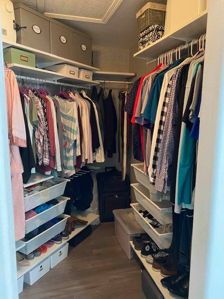 master closet makeover with IKEA boaxe